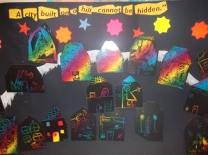 Our theme in October was 'Light' as we thought the city built on a hill