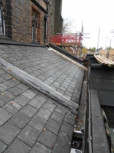 The  slates began their return to our roof at the end of October