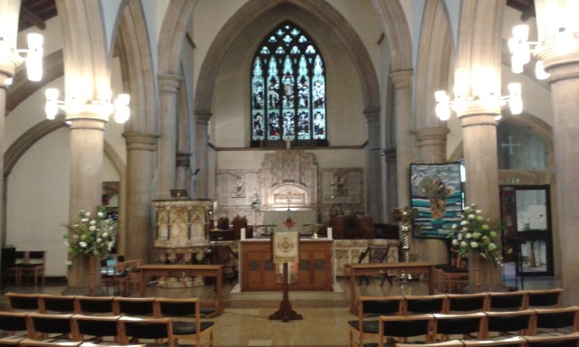 Christ Church prepared for a wedding