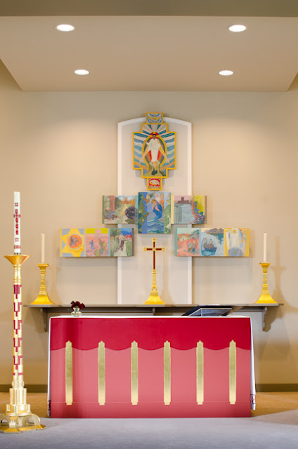 Altar and reredos at St Christopher's