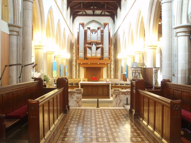 View from the chancel at Christ Church