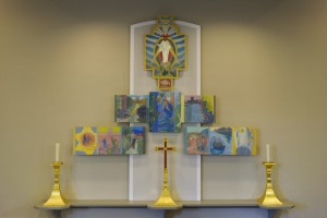 St Christophers Panel plus candles (1)